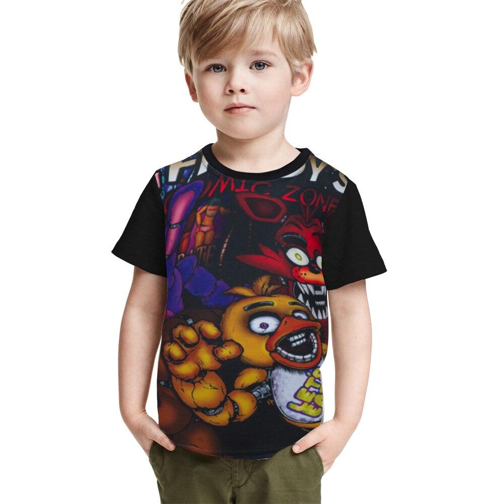 Five Nights At Freddy's Kids T Shirt FNAF Freddy Bear Children T-shirt Chica Bonnie Foxy Toddler Boys Girls Tshirt Fredbear Tees женская футболка other t tshirt 2015 blusas femininas women tops 1