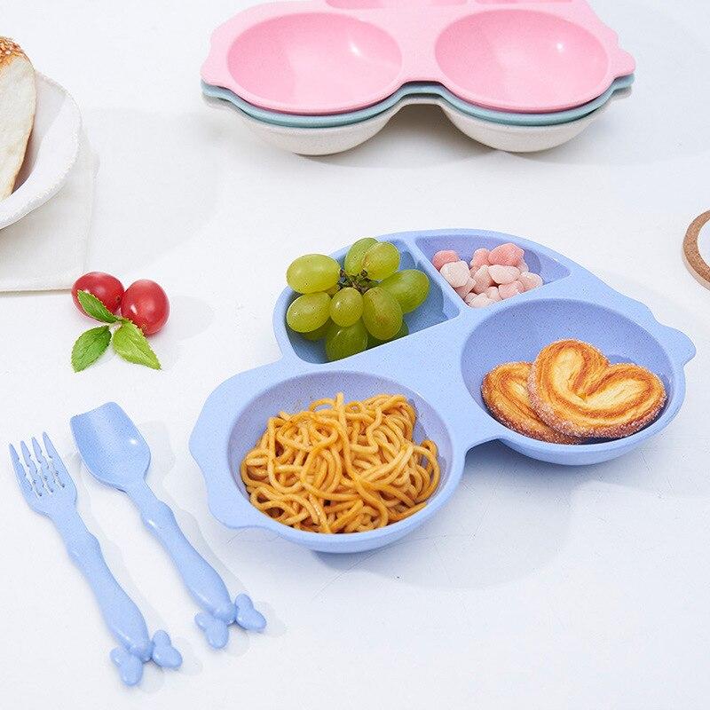 1 шт. мультфильм автомобиль Стиль 4 сеток пластины Малый Чипсы Закуски посуда Миски детские детей тарелку прекрасное блюдо