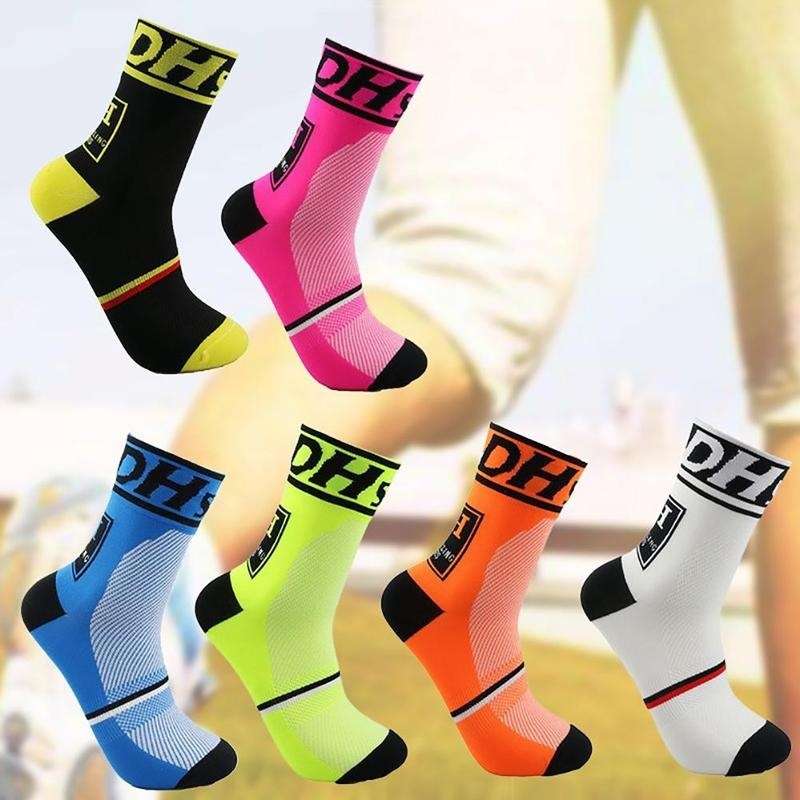 Letters Cycling Socks Outdoor Running Hiking Bike Socks Basketball Socks