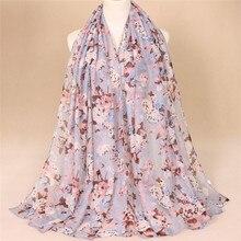 Принт сезон весна-лето модели с цветочным рисунком для женщин модный шарф, шаль 10 штук из распродажа заколок для девочек;