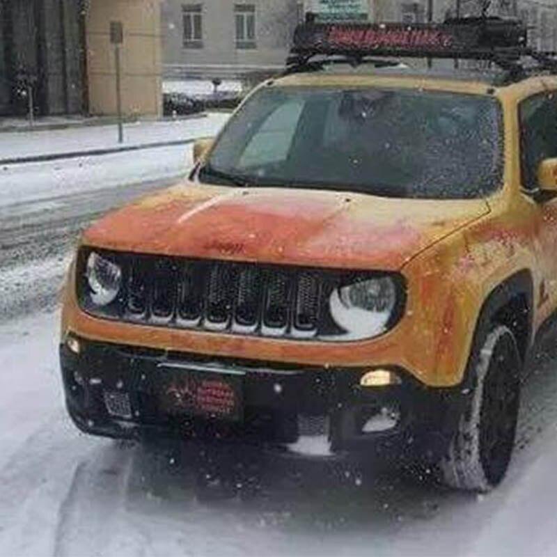 Masywnie Dla Jeep Renegade czarny reflektor pokrywa powieki reflektor brwi AJ77