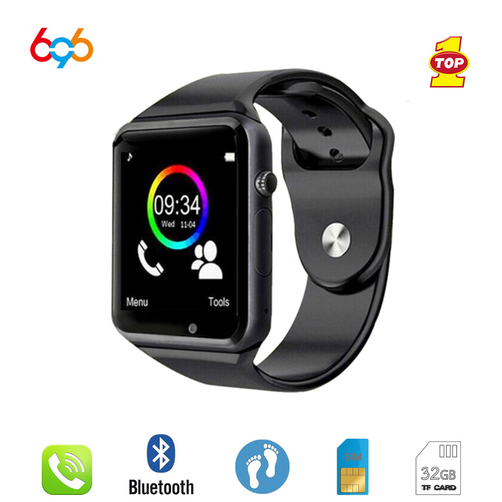 696 <font><b>Bluetooth</b></font> <font><b>A1</b></font> <font><b>Smart</b></font> <font><b>Watch</b></font> Women Sports Clock Sync Notifier Support SIM TF Card Connectivity For Android&IOS Phone SmartBand image