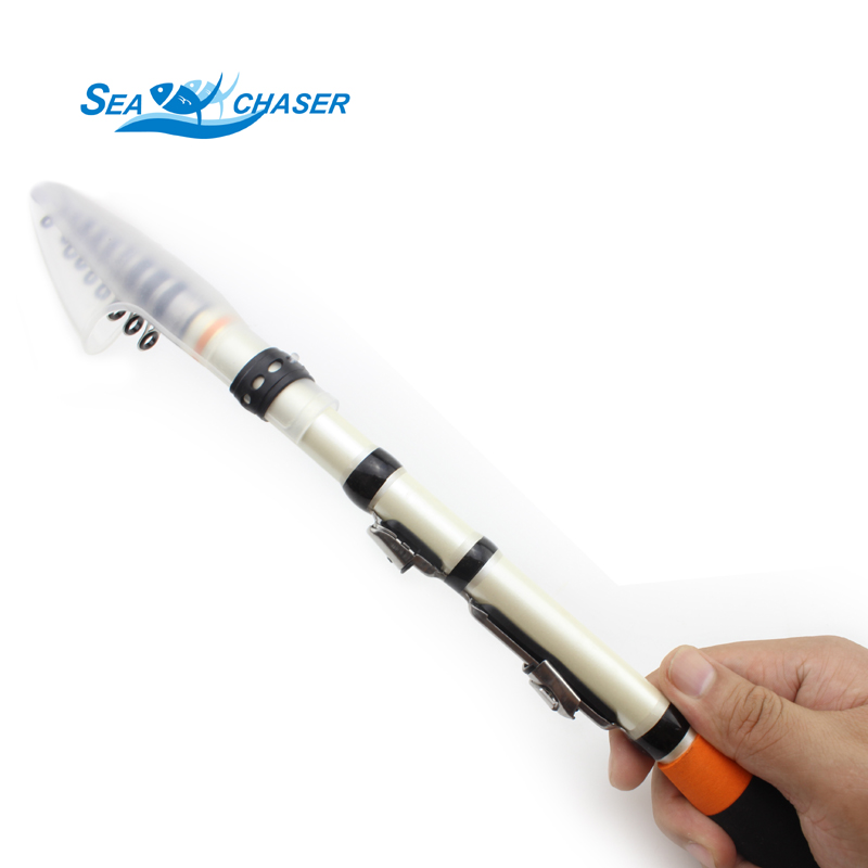 NEW MINI Telescopic Fishing Rods Rock Spinning Rod Pole Fishing Tackle1.5m -2.4m Fishing Rod Free shipping