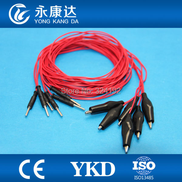 Free shipping Colorful Needle Brain EEG Cables for Electroencephalo-graph 6pcs/set,CE&ISO13485