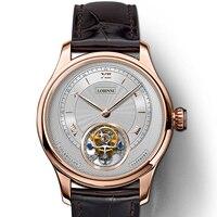 Suíça lobinni marca de luxo relógios masculino tourbillion relógio automático mecânico safira à prova dwaterproof água L8885-4