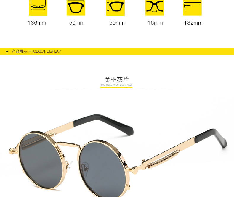 2114cac8f Mirror Rose Gold Steampunk Sunglasses Luxury Brand Sun Glasses For Women  Pink Round Girls Shades Ladies Eyewear sonnenbrille. -1_01 -1_02 -1_03  -1_04 -1_05 ...