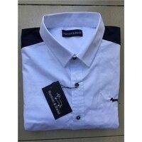Harmont Blaine men's long sleeve shirt Chemise Masculine Male cotton Shirt Social Business casual Dress Shirt Brand design tops