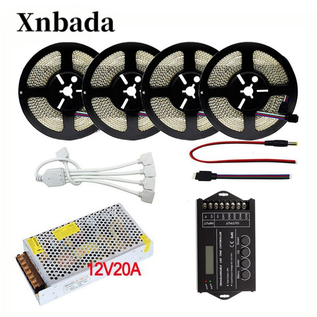5-20M 2835 RGB LED Strip Light DC12V 234 LEDs/m Flexible LED Light RGB Neon Light Strip TC420 RGB Led Controller + Power Supply