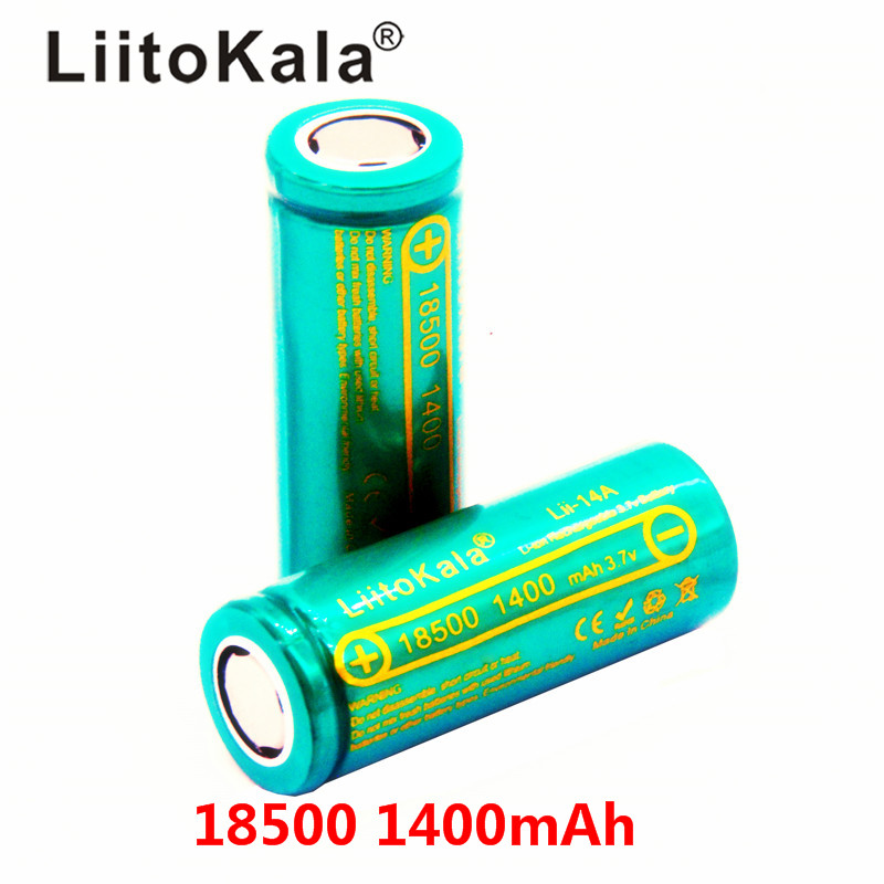 LiitoKala Lii-14A 18500 <font><b>1400mAh</b></font> rechargeable lithium battery <font><b>3.7V</b></font> strong light flashlight anti-light special lithium batter image