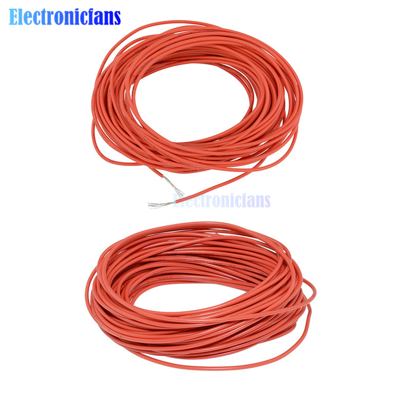 10M Blue UL 1007 Hook Up Wire Cable 24AWG Cord Hook-up DIY Electrical
