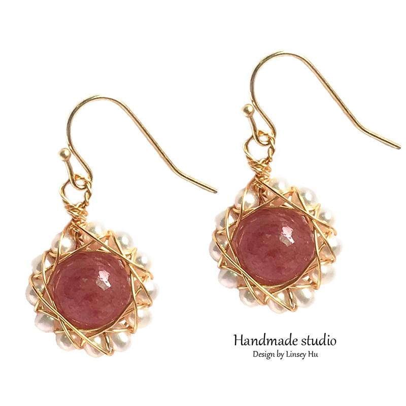 La MaxZa Original Design Earrings Natural Baroque Pearl For Women Boho Custom Dangle Earrings Handmade Luxury Crystal EH2308