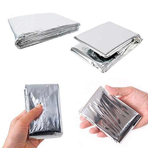 Outdoor Water Folding Emergency Blanket 210cm*130cm Silver Emergency Survival Rescue Shelter Outdoor Camping Keep Warm Blankets