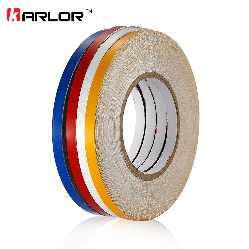 1cm*42m Car Styling Reflective Tape Warning Stickers Reflective lines Body Rim Automobile Motorcycle Emergency Safety Strip 16 strips motorcycle accessories 7 colors car styling decals 17 or 18 inch car stickers wheel rim sticker reflective tape
