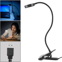 Portable Clip On LED Desk Lamp Full Touch Control Stepless Dimming Eye Protection Table Book Reading Light for Bedroom Office Desk Lamps    -