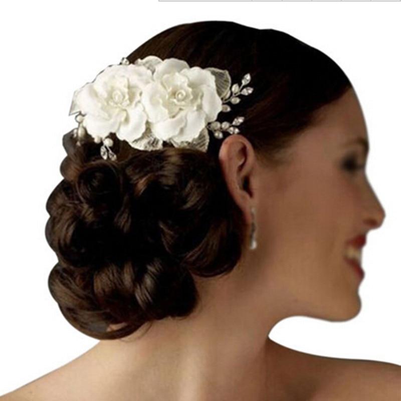 Flowers tiara pearl fabric bridal wedding crown floral headdress flowers tiara pearl fabric bridal wedding crown floral headdress headband white j10264 mightylinksfo