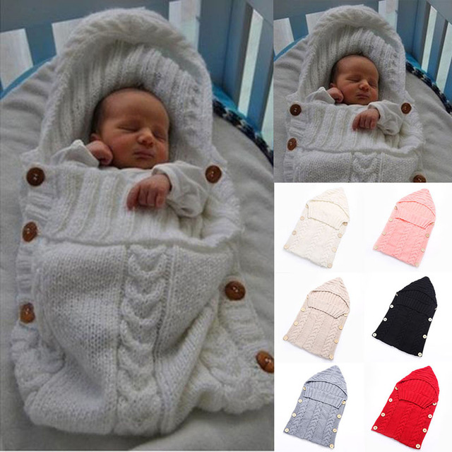 a2291d9cb Cute 1Pc Solid Baby Kids Toddler Newborn Blanket Swaddle Sleeping ...