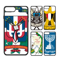 Albanië Canada Dominicaanse Roemenië Israël Nationale Embleem Land Symbool Telefoon Case voor iPhone X 7/8 Plus Gevallen Phonecase Cover