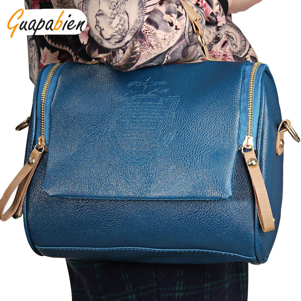 Guapabien 2017 Lady Solid Color PU Leather Womens
