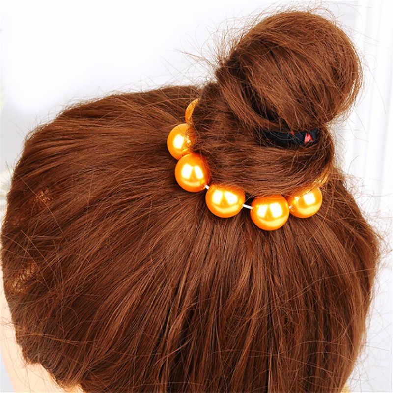 Pearl Jewelry แฟชั่น Elastic Hairbands Headwear ผู้หญิงอุปกรณ์เสริมสำหรับผมเชือกสาวจัดแต่งทรงผม Shining ริบบิ้นผม