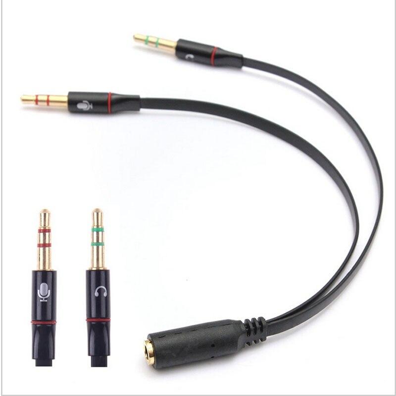 3 5mm 1 Female to 2 male font b Headphone b font Earphone Audio Cable Micphone