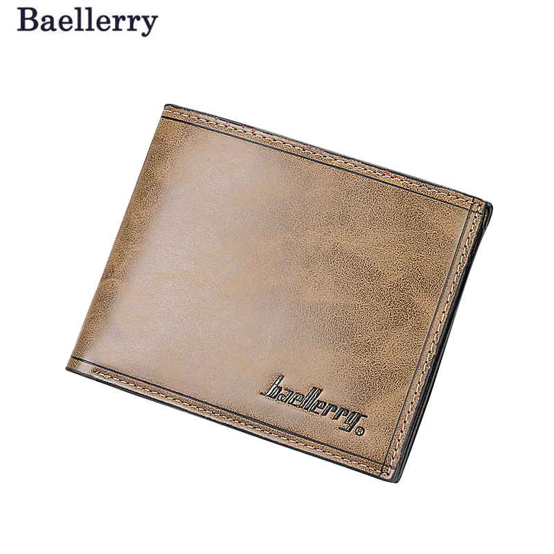 PU Leather Male Money Purses Retro Men Wallets Famous Brand New Designer Short Purse With Card Holder