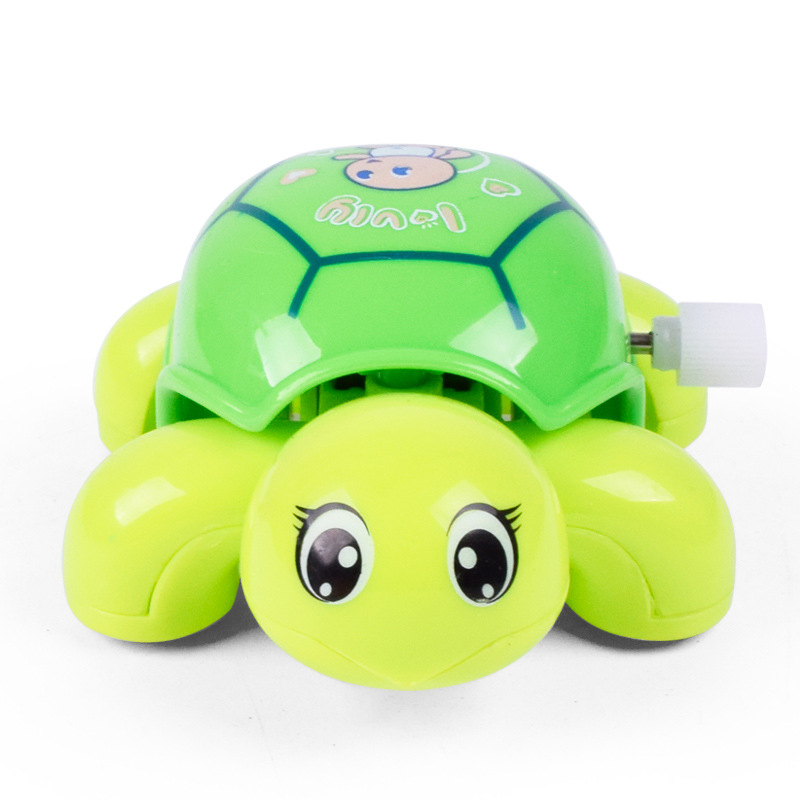 1pc novelty cute turtle puzzle wind up toys hot sale children classic cartoon clockwork toy kids Christmas gift random color