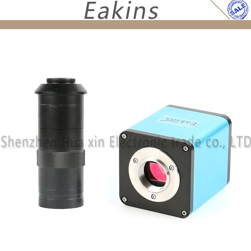Autofocus 1080 P 60FPS SONY IMX290 Capteur HDMI TF Vidéo Autofocus L'industrie Microscope Caméra Ensemble + 8X-100X C-Monture