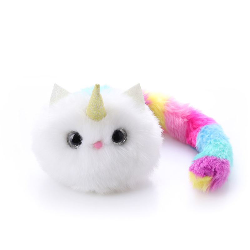 11*10*39cm Plush Electric Toy Surprise Cat Sick And Hungry Toy Cat Fluffy Animal Plush Doll Child Baby Gift Boy Girl Toys