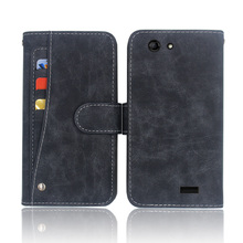 Hot! Vertex Impress Lion Case High quality flip leather phone bag cover case for with Front slide card slot