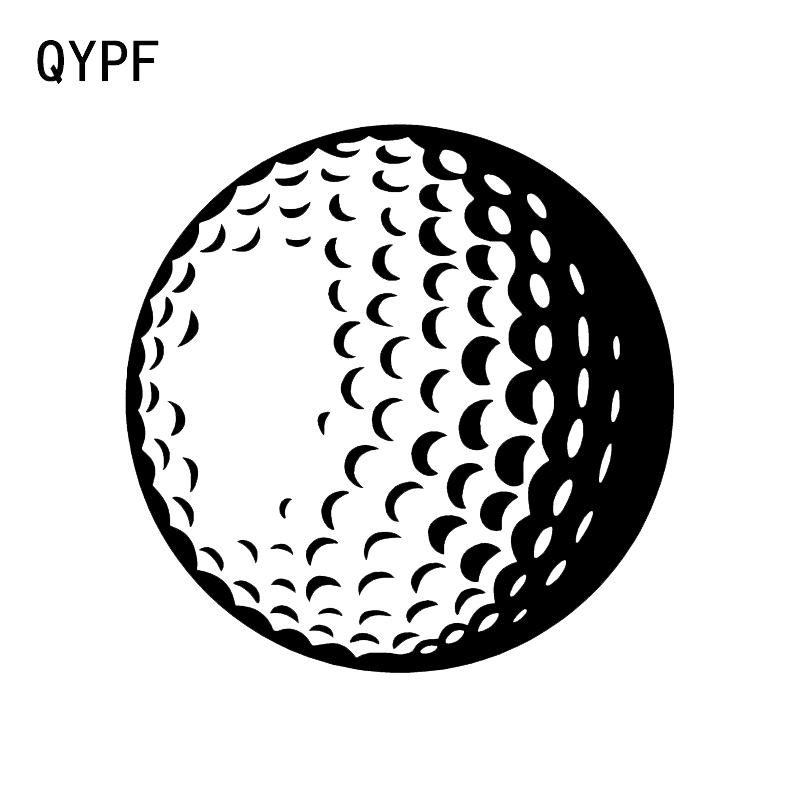 QYPF 10.6*10.6CM Interesting Golfer Decor Vinyl Car Sticker Silhouette Accessories Bumper Window Decals C16-1494