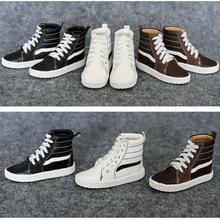 Chaussures de poupée BJD, 1 paire, noires, brunes, blanches, chaussures en polyuréthane, BJD 1/4, nouvelle tendance