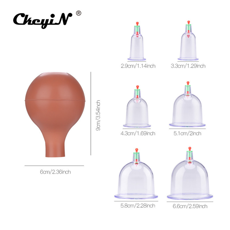 6 Cups High Quality Medical Rubber Vacuum Suction Cupping Cups Body Back Massage Cupping Therapy Suction Health Care Beauty ools6 Cups High Quality Medical Rubber Vacuum Suction Cupping Cups Body Back Massage Cupping Therapy Suction Health Care Beauty ools