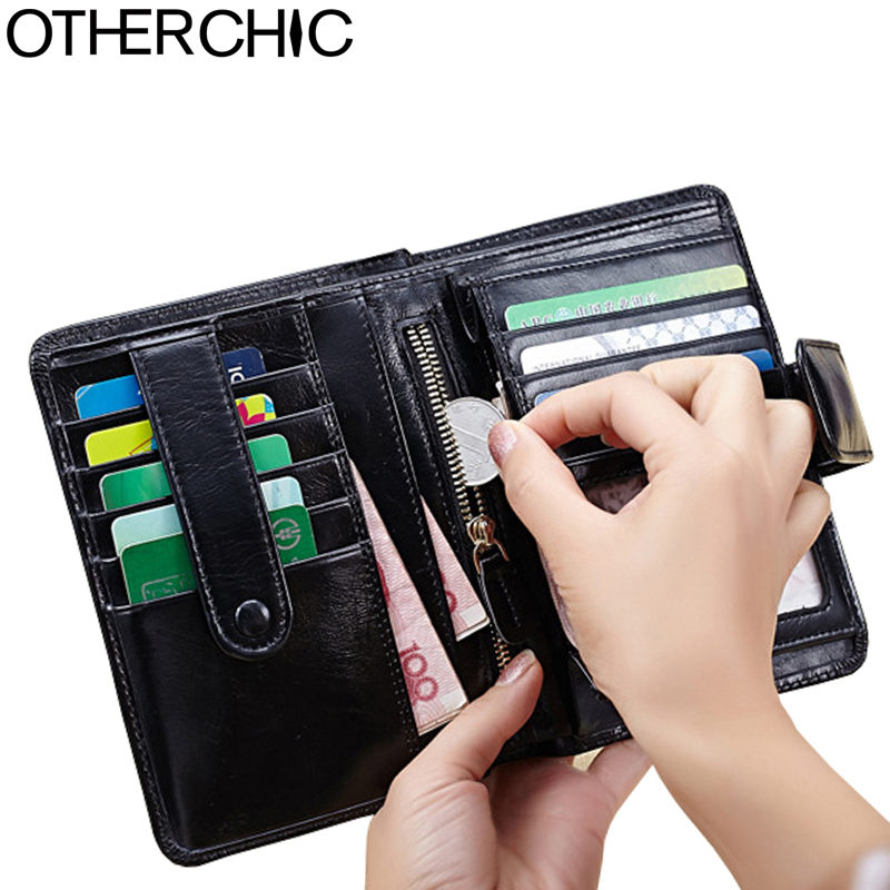 OTHERCHIC Small Wallet Women Wallets Cow Leather Card Holder Portefeuille Femme Purses Casual Women's Wallets  17Y04-74 otherchic wallet split leather women wallets card holder women s wallet women leather wallet portefeuille femme purses 17y04 46