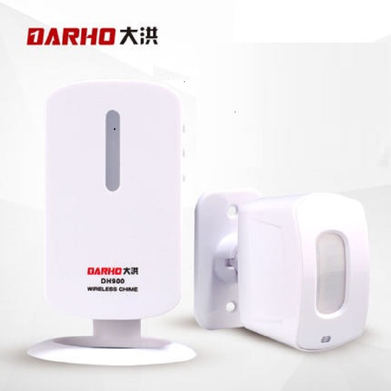 Darho welcome device door alarm welcome chime wireless infrared ir signal motion sensor door bell alarm