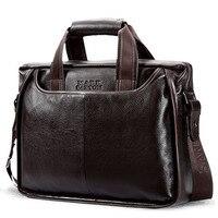 2018 Business Genuine Leather Handbag Men bag Casual Tote Men's Messenger bags Briefcase Natural Cow Leather Shoulder bag New