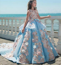 Real Pictures 2019 Girls Pageant Dresses Ball Gown Children Birthday Wedding Party Dresses Teenage Princess Flower Girls Dresses hh brand kids dresses for girls princess pageant wedding blue red flower girl dresses birthday party dress bowknot ball gown