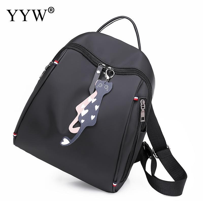 Backpack Women Schoolbag Tarvel-Bag Teenage Nylon Waterproof Casual For With Handle Female
