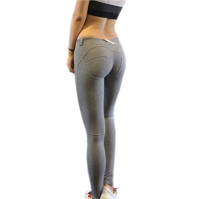 Women Sexy Push Up Leggings 2016 Ropa Deportiva Mujer Fitness Leggins High Elastic Peach Hip Jegging