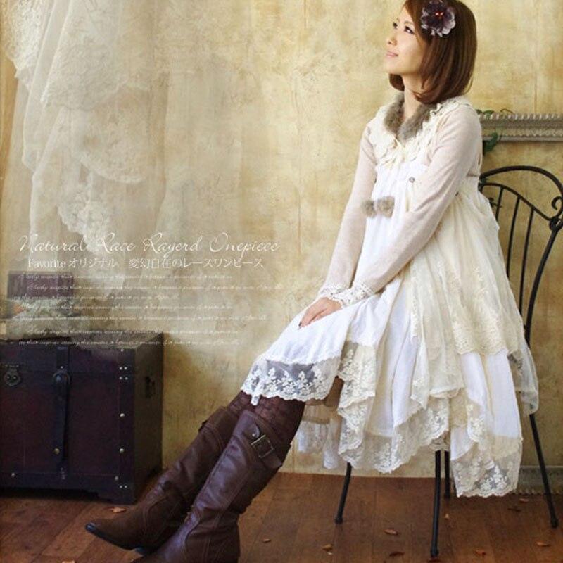 Japonais Harajuku Mori fille débardeur robe femmes vêtements asymétrique coton Patchwork décontracté belles robes Kawaii A180