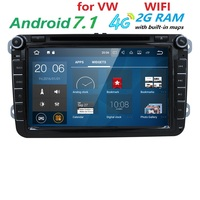 Wholesales 2 Din 7 Inch Car DVD Player For VW SKODA CANBUS GPS Navigaiton Bluetooth IPOD