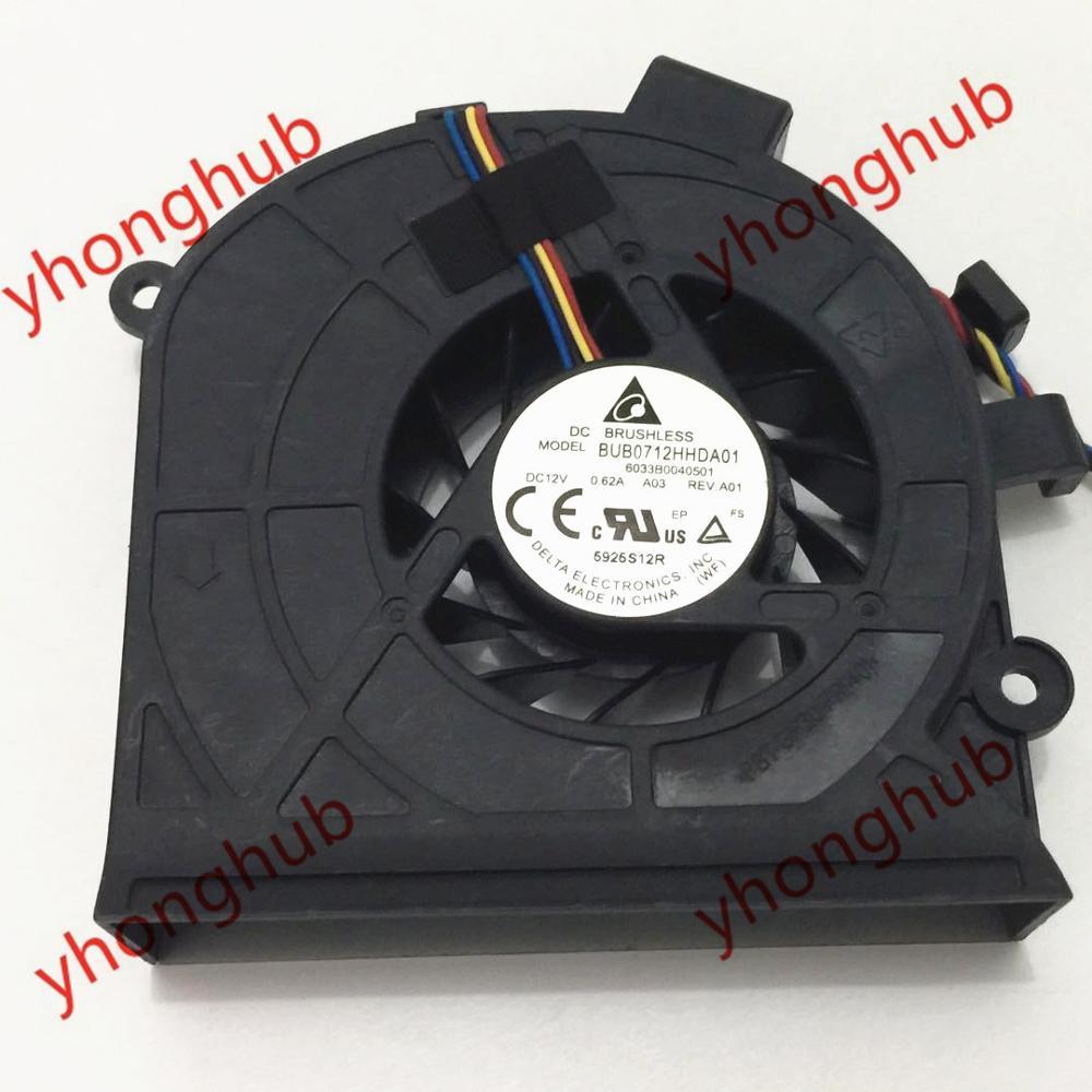 Delta Electronics BUB0712HHDA01 6033B0040501 Server Cooling Fan DC 12V 0 62A 4 wire