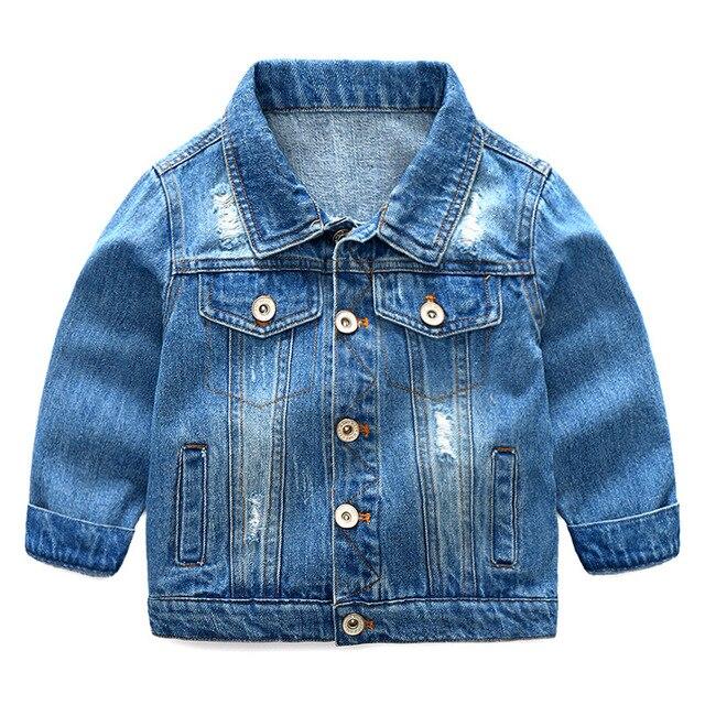 9e6ea7e486 Bebé niños de mezclilla moda chaqueta primavera otoño chaquetas para abrigo  abrigos los ropa. Baby Boys Fashionable Denim Jacket Spring Autumn Jackets  For ...