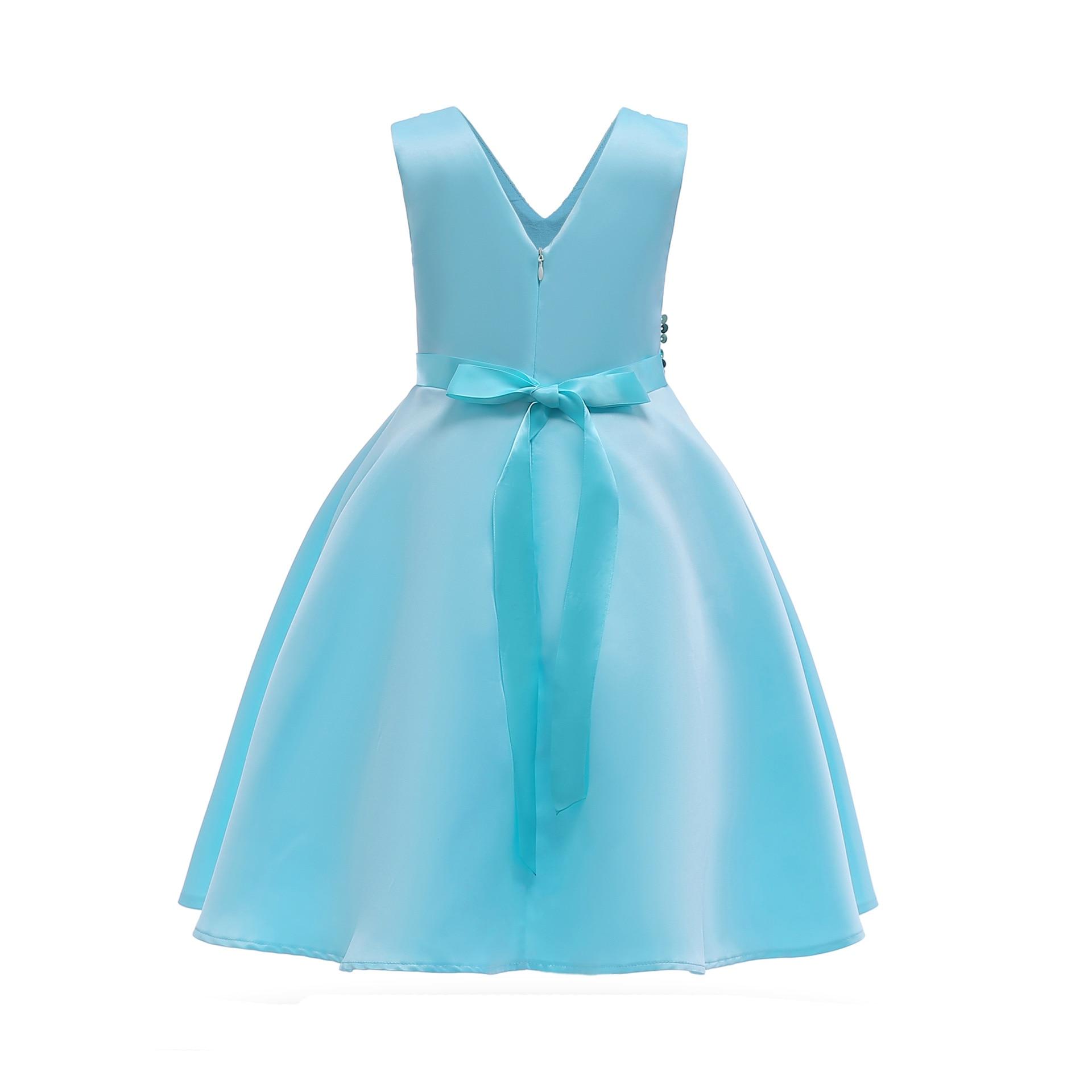 Hibyhoby 2018 nieuwe Boog Baljurk Mouwloze Pailletten jurk Meisjes - Kinderkleding - Foto 2