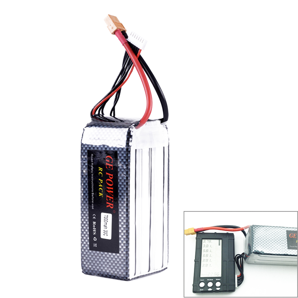 High Quaity GE Power 22.2v 7000MAH 30C 6S lipo battery T plug XT60 plug For RC Quadcopter Upgrade Battery