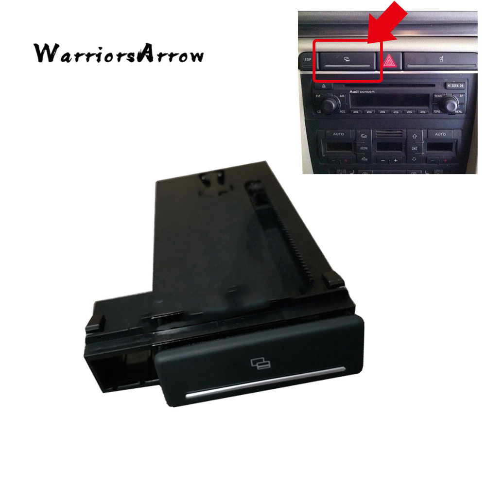 WarriorsArrow Automobile Card Slot Storage Box Holder Pop Out Tray Dashborad LHD For Audi B6 B7