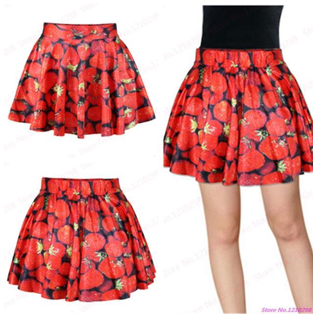 71019521c4 New Red Tennis Short Skirts High Waist Pettiskirt Nightclubs Dance Sport  Kilts Fresh Strawberry Short Skirts Pleated Miniskirt