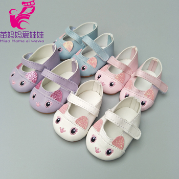 mini doll shoes for 43cm born baby Doll for Reborn Baby Doll shoes 18 inch girl doll cute princess shoes mini dolls shoes cartoon cat shoes 7cm pu leather shoes for 43cm doll 18 inch americian doll giant baby accessories girl gift