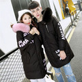 New Fashion 2016 High Quality Winter Women Thicken Warm Real Fox Fur Collar Long White Duck Down Jacket Parkas Couples Coats