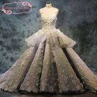 SuperKimJo Casamento Lace Applique Boho Wedding Dresses Luxury Elegant Sheer Back Gorgeous Bridal Dresses Vestido De