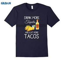 0ccc1e83f GILDAN Drink More Tequila Shots And Eat More Tacos Funny Gift Shirt(China)